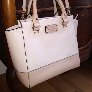 Kate Spade Small Camryn Cream - Pebble Leather